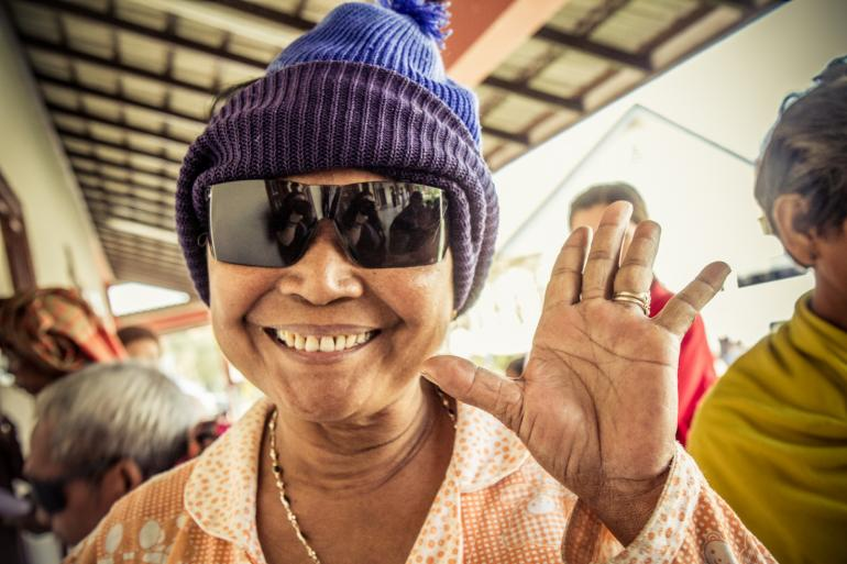 Cambodia Sunglasses Lady