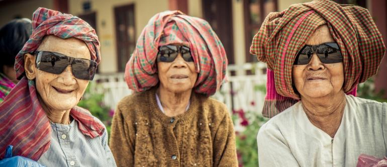 Cambodian Women Cataract Surgery Sunglasses