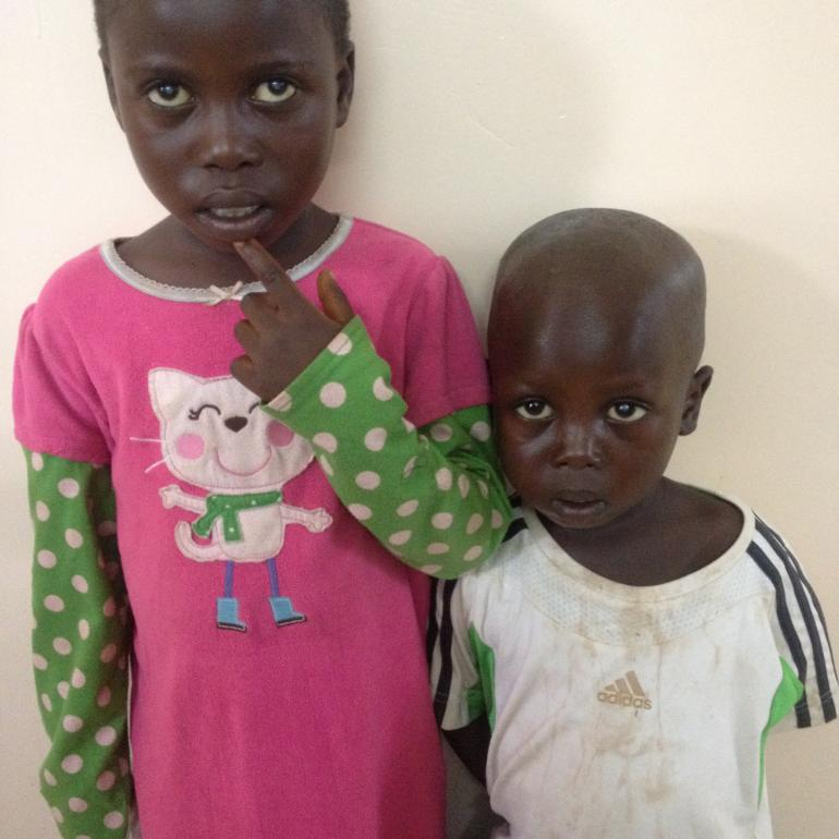 Aimable and Nelly before surgery
