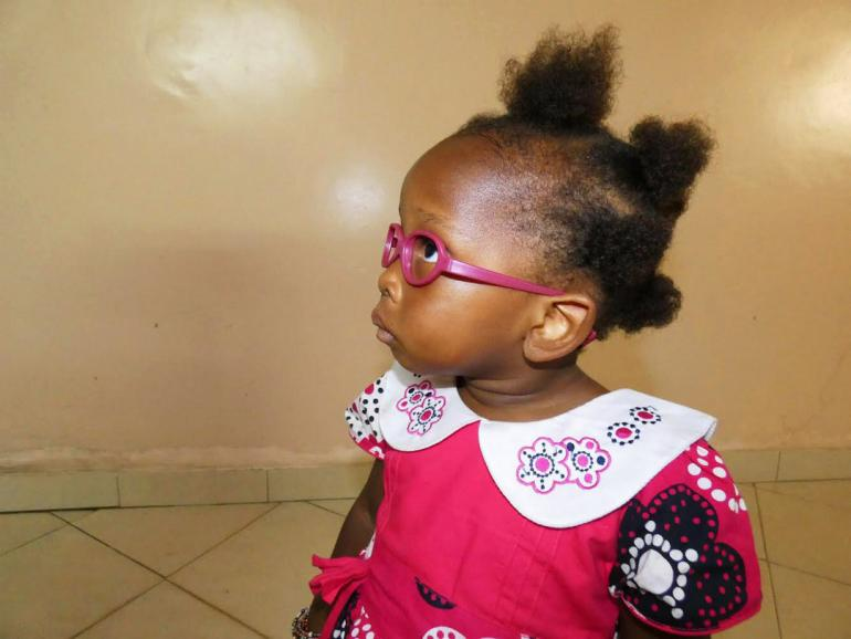 Burundian Girl Milka in glasses
