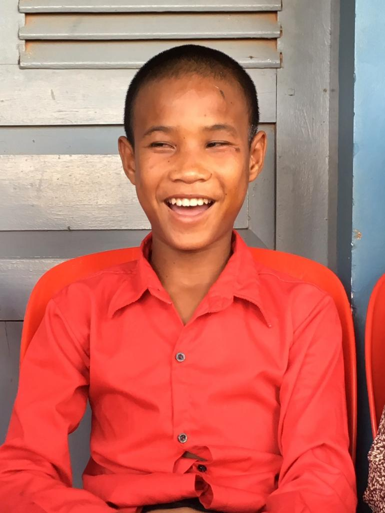 Torng Cambodian boy Smiling after bandage removal