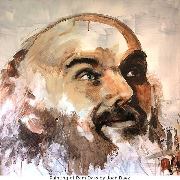 Ram Dass Painting by Joan Baez