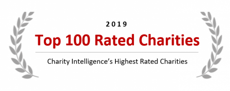 Charity Intelligence Top 100 2019 logo