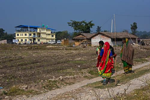 Nepali Patients walking to Thori 2020 by Marty Spencer