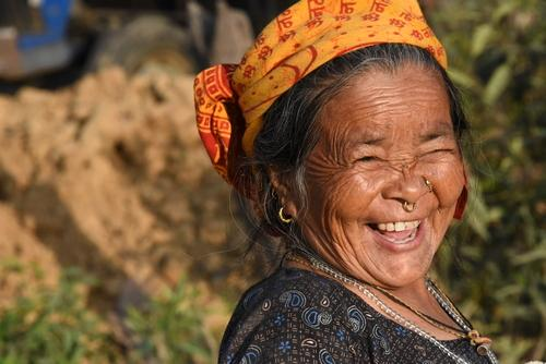 Smiling Nepali Woman by Marty Spencer