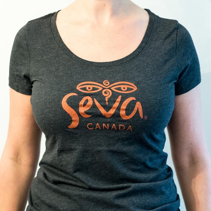 Seva Women's T-Shirt Charcoal