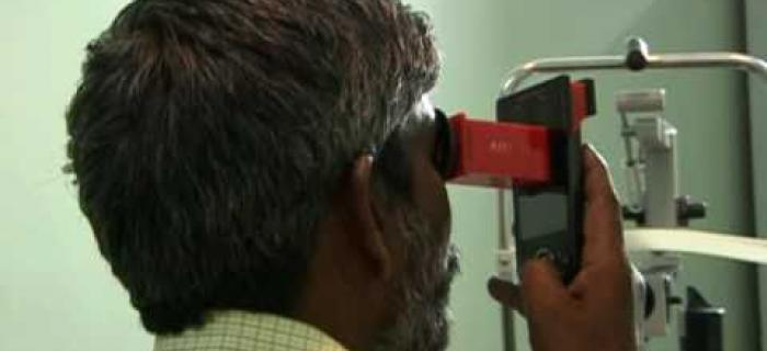 LV Prasad Eye Institute testing NETRA, MIT's Portable low cost mobile for refraction