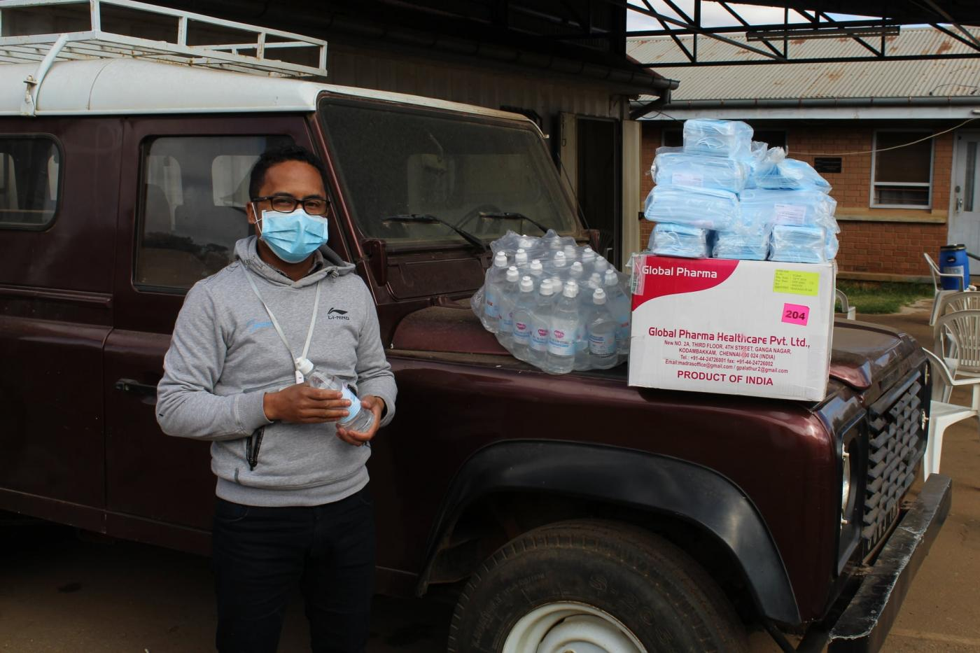 COVID Supplies - water and masks