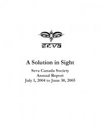 2004-2005 Seva Canada Annual Report Cover