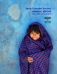 2009-2010 Seva Canada Annual Report Cover