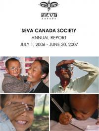 2006-2007 Seva Canada Annual Report Cover