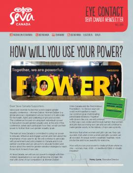 Cover image of Seva Canada Fall 2019 Newsletter