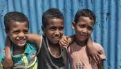 Ethiopian boys smiling
