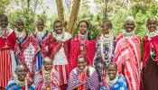 Maasai Microfinance Workers Banner photo by Ellen Crystal