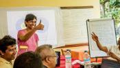 Priya sharing research results