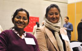 Dr. Namrata and Dr. Manisha smiling at camera