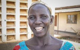 Molly Atim in Uganda smiling
