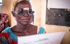 Molly Atim in Uganda doing a reading test 2