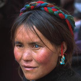 Woman In Tibet Photo