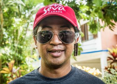 Salfa Madagascar Staff with Sunglasses by Ellen Crystal