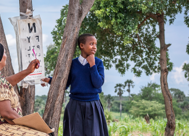 Outreach Screening Image in Tanzania by Joe Raffanti