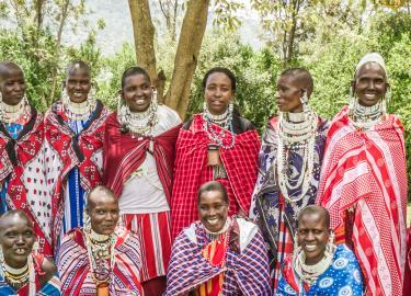 Maasai Microfinance Workers Banner photo by Ellen Crystal