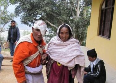 Pale and His Wife in Nepal after Cataract Surgery Banner 2
