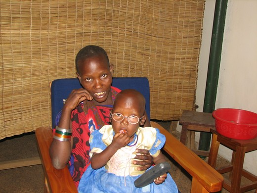 Rose Mollel 3- year old Masai girl after cataract surgery
